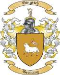 Gingrich Family Crest from Germany