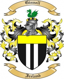 Ginnell Family Crest from Ireland