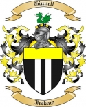 Ginnell Family Coat of Arms from Ireland