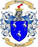 Gipsone Family Coat of Arms from Scotland