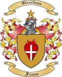 Girardeau Family Crest from France3