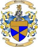 Girardin Family Coat of Arms from France2