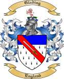 Glading Family Crest from England