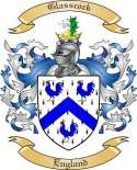 Glasscock Family Crest from England