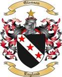 Glassen Family Crest from England