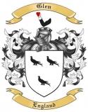 Glen Family Crest from England