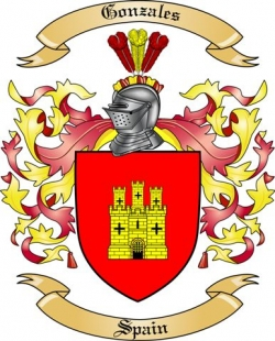 Gonzales Family Coat of Arms from Spain