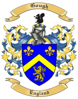 gough family crest from england by the tree maker