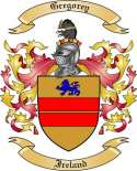 Gregorey Family Crest from Ireland