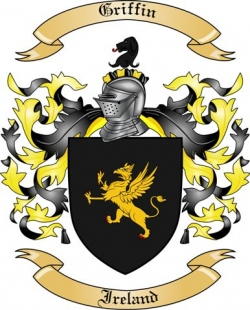 Griffin Family Coat of Arms from Ireland