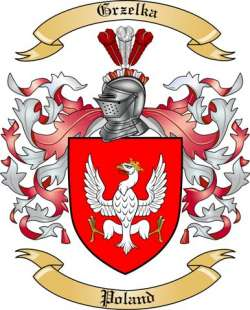 Grzelka Family Coat of Arms from Poland