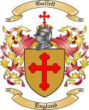 Gullett Family Coat of Arms from England