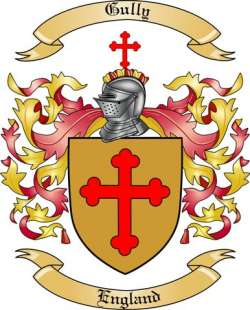gully family crest from england by the tree maker