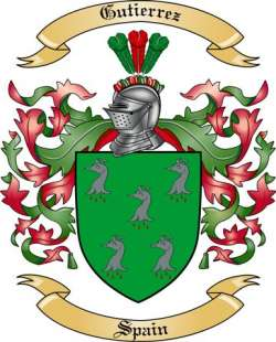 Gutierrez Family Coat of Arms from Spain