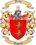 Hache Family Crest from England