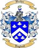 Hacher Family Crest from England