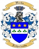 Hacke Family Crest from Netherlands
