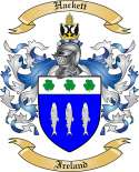 Hackett Family Crest from Ireland