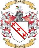 Hackley Family Coat of Arms from England