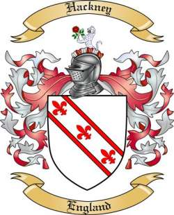 hackney family crest from england by the tree maker
