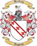 Hackney Family Coat of Arms from England