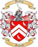 Hadley Family Coat of Arms from Ireland