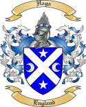Haga Family Coat of Arms from England