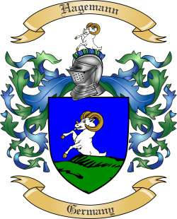 Hagemann Family Coat of Arms from Germany
