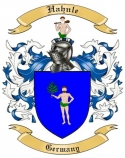 Hahnle Family Crest from Germany
