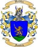 Haidler Family Crest from Austria
