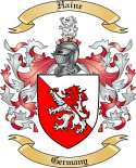Haine Family Coat of Arms from Germany