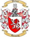 Haines Family Crest from Germany2