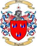 Hains Family Crest from England