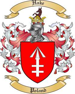 Hake Family Coat of Arms from Poland