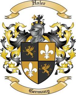haler family crest from germany by the tree maker