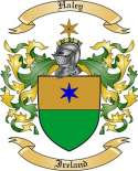 Haley Family Coat of Arms from Ireland