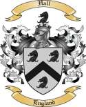 Hall Family Coat of Arms from England