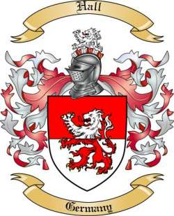 Family Crest Hall http://www.thetreemaker.com/family-coat-h/hall/germany.html
