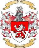 Hall Family Crest from Germany