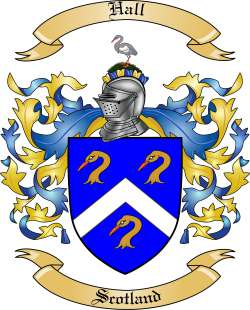 Family Crest Hall http://www.thetreemaker.com/family-coat-h/hall/scotland.html