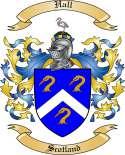 Hall Family Crest from Scotland