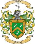 Halla Family Coat of Arms from Ireland