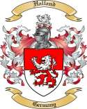 Halland Family Crest from Germany