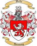 Halle Family Coat of Arms from Germany