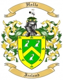 Halle Family Crest from Ireland