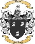 Halle Family Crest from Scotland2