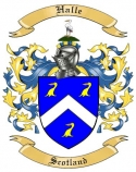 Halle Family Coat of Arms from Scotland