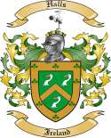 Halls Family Crest from Ireland