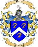 Halls Family Crest from Scotland