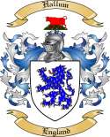 Hallum Family Crest from England